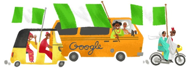 When Google doodle about Nigerian buses, ol' they draw the golden ones with black stripes