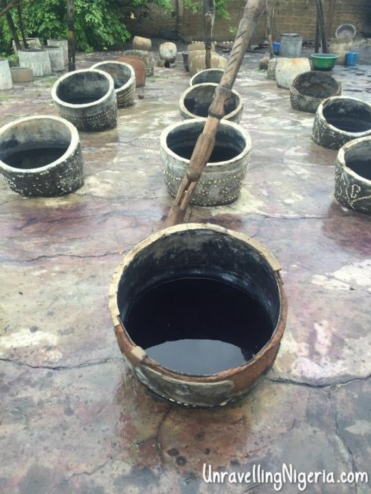 The dye pots