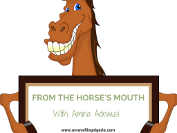 From The Horse's Mouth