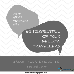 Group Tour Etiquette | Dos and Don'ts