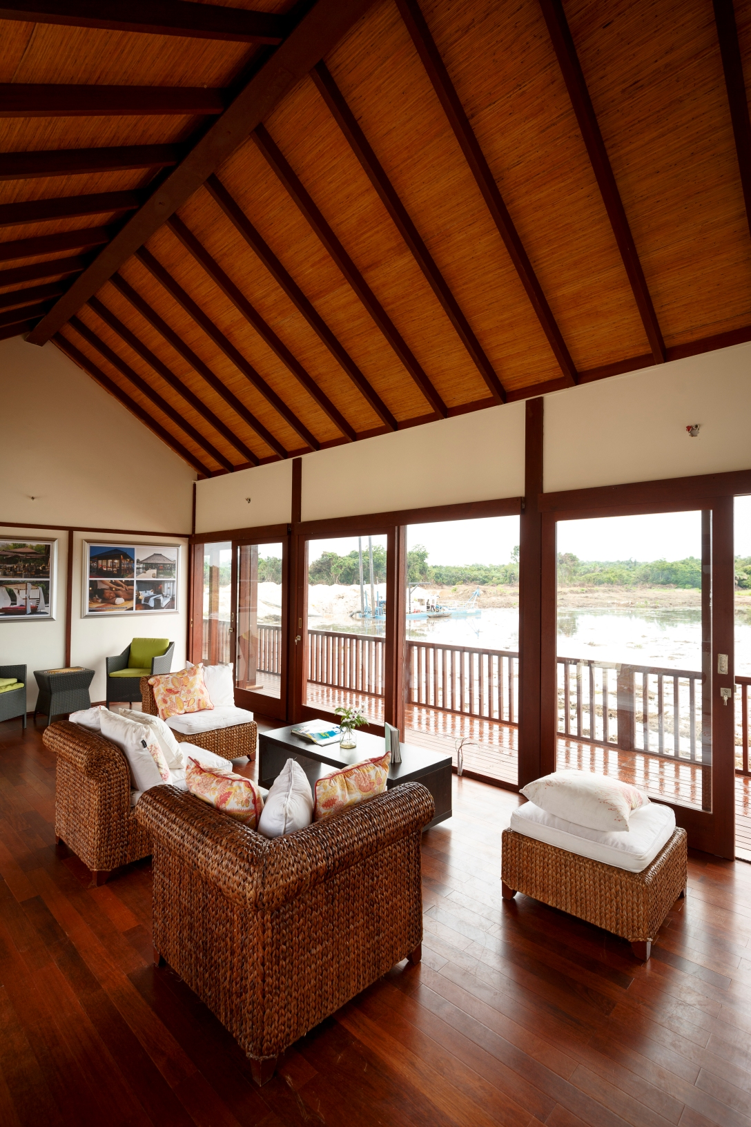 Interior view from one of the Cottages in the Hospitality Resort at Lakowe Lakes