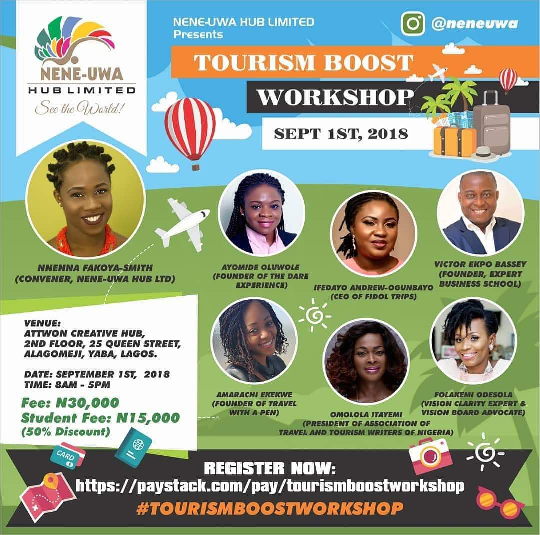Tourism Boost Workshop Poster with Facilitators